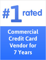 #1 rated commercial credit card vendor for 7 years